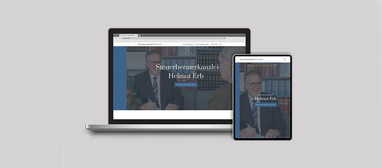 Klare Linien || Portfolio || Steuerberaterkanzlei Helmut Erb || Webseite