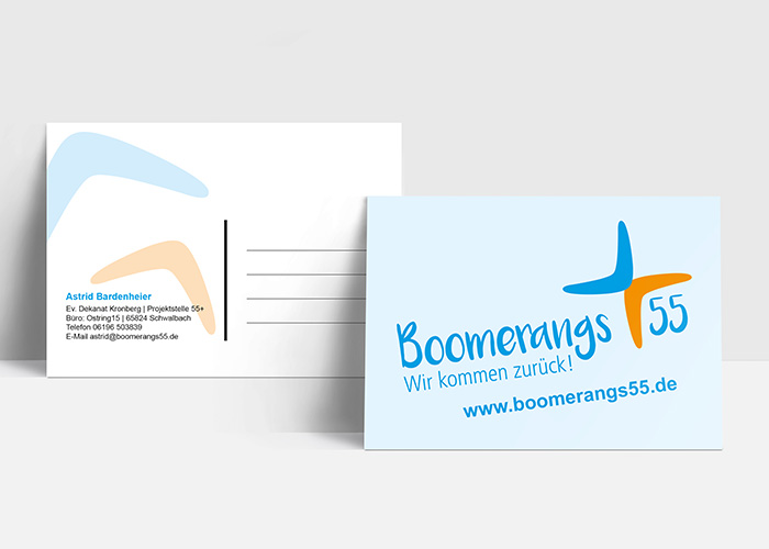 Klare Linien || Portfolio || Boomerangs55 || Postkarten
