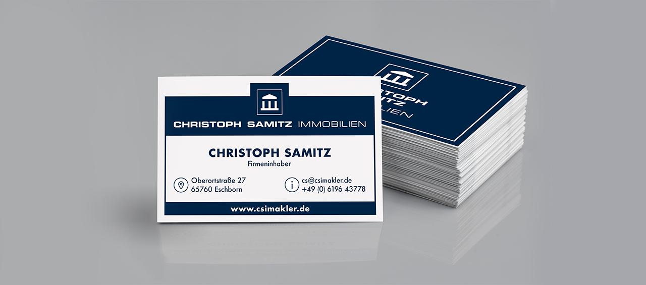 Klare Linien || Portfolio || Christoph Samitz Immobilien || Visitenkarten