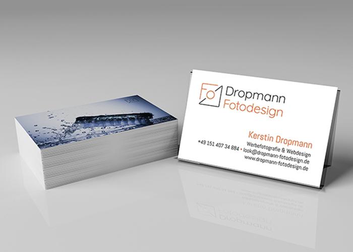 Klare Linien || Portfolio || Dropmann || Visitenkarten