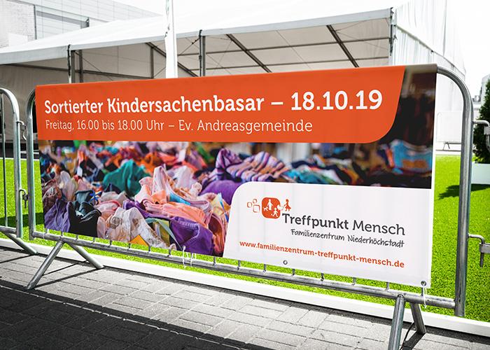 Klare Linien    Portfolio    Familienzentrum Niederhöchstadt    PVC Banner