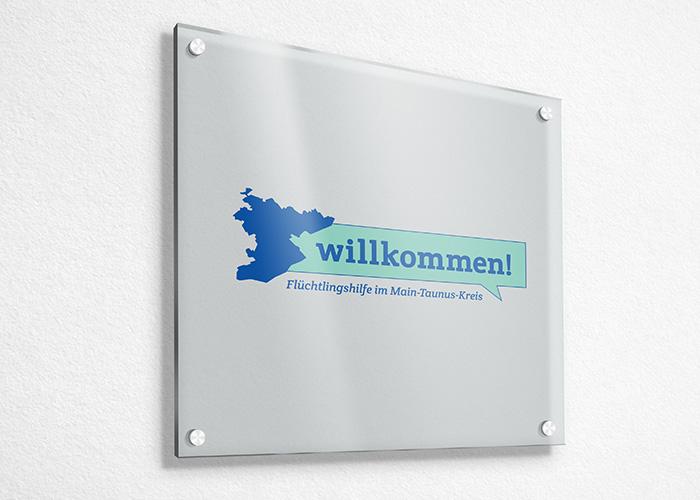 Klare Linien || Portfolio || Flüchtlingshilfe Main Taunus Kreis || Logo