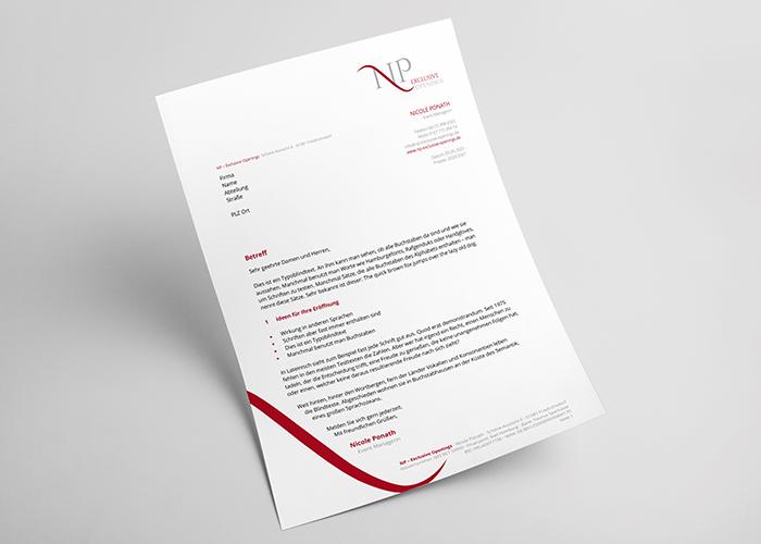Klare Linien || Portfolio || NP - Exclusive Openings || Briefbogen