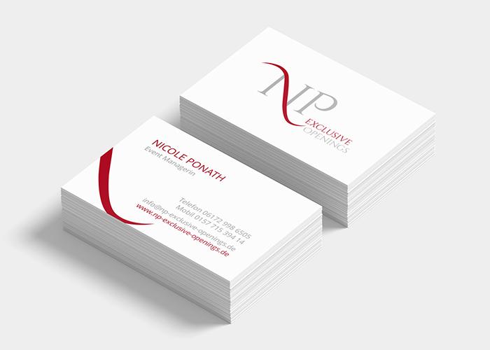 Klare Linien || Portfolio || NP - Exclusive Openings || Visitenkarten