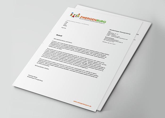 Klare Linien || Portfolio || Zwergenburg || Briefbogen