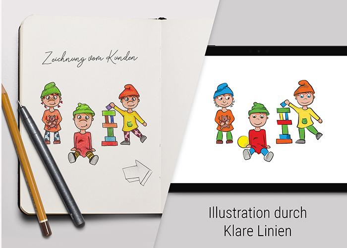 Klare Linien || Portfolio || Zwergenburg || Illustration