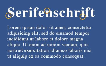 Klare Linien || Blog || Schriftarten || Serifenschriften