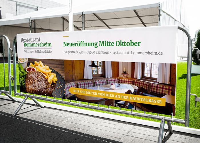 Klare Linien || Portfolio || Bommersheim || PVC Banner