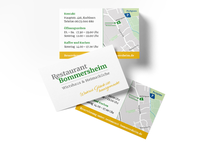 Klare Linien || Portfolio || Bommersheim || Visitenkarten